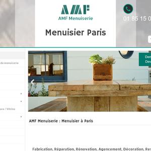 AMF Menuiserie Menuisier Paris Menuisier à Paris - Porte placard coulissante jumelé avec serrurier bagnolet